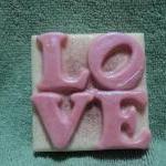 Valentine Soap - I Love Pink Soap -..