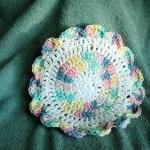Washcloth-Crocheted - Rainbow Wash..