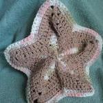 Wash Cloth - Starfish Shaped - Brow..