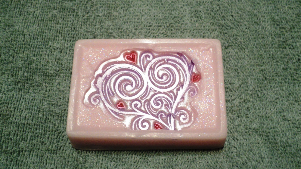 Valentine Soap - Fancy Heart Soap