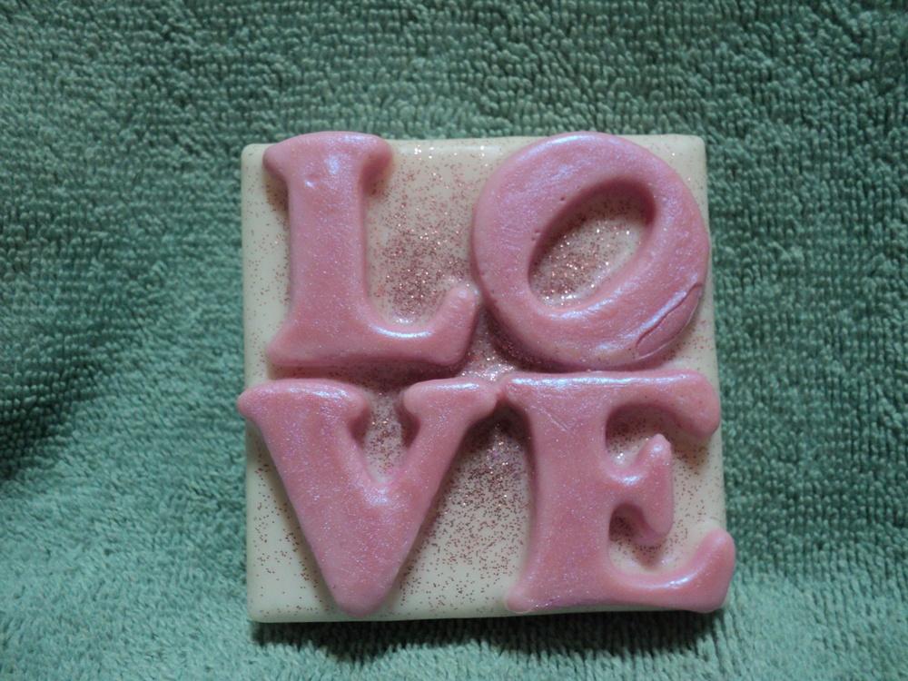 Valentine Soap - I Love Pink Soap - Pink Sugar Scent