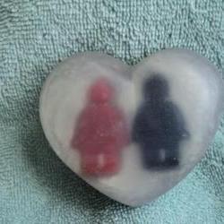 Valentine Soap - Mini Men Heart Soap - Fruit Rings Scent