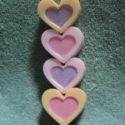 Heart Soap Set - Mango and Pink Sangria Scent