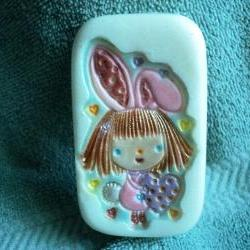 Pink Bunny Girl Soap